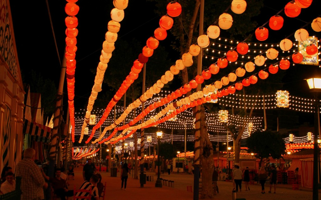 Alumbrao Feria de Abril en Sevilla