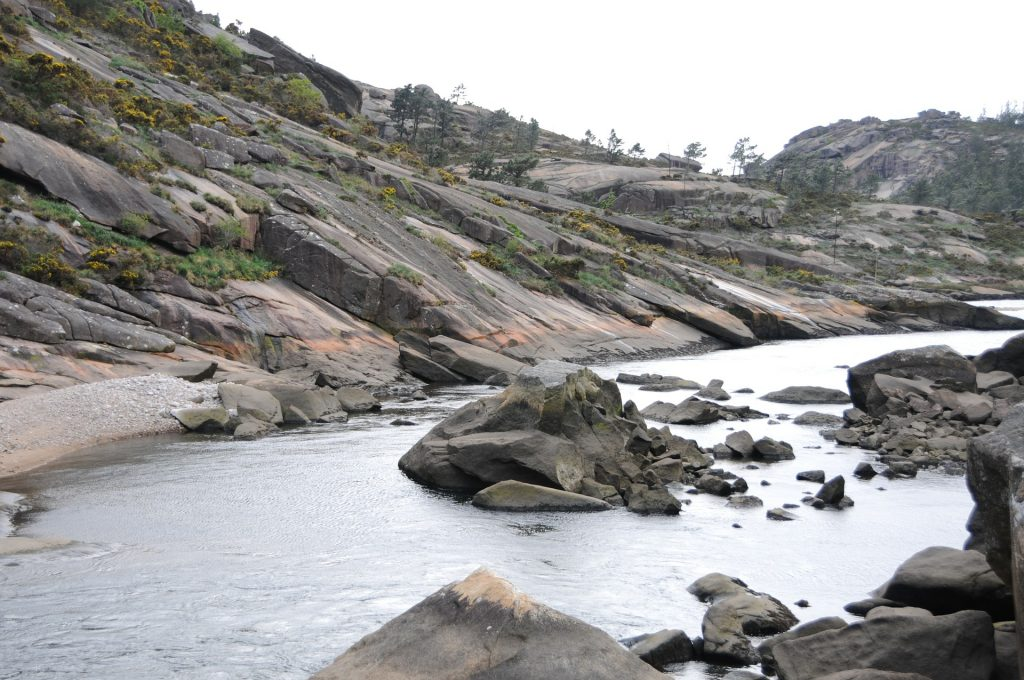 Vista de la Cascada de Ézaro en Galicia