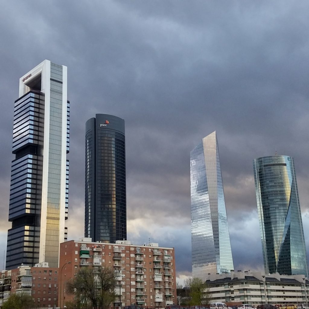 Las cuatro torres en Madrid Centro