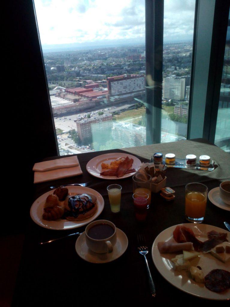 vistas desde el hotel cuatro torres madrid