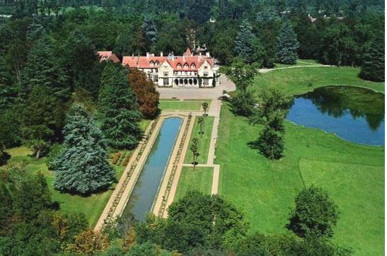 Vista aérea del Palacio de los Hornillos