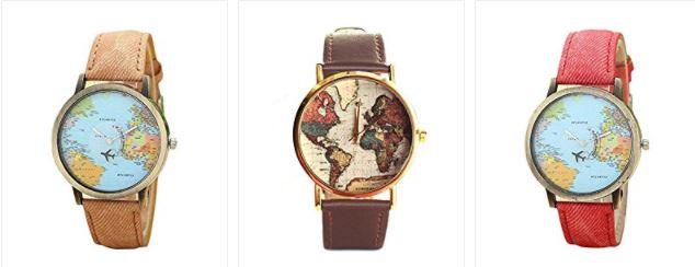 Reloj mapamundi para regalar en San Valentín