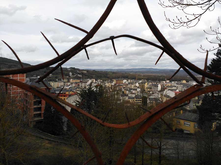 Vistas de Sarria desde el mirador de la cárcel.